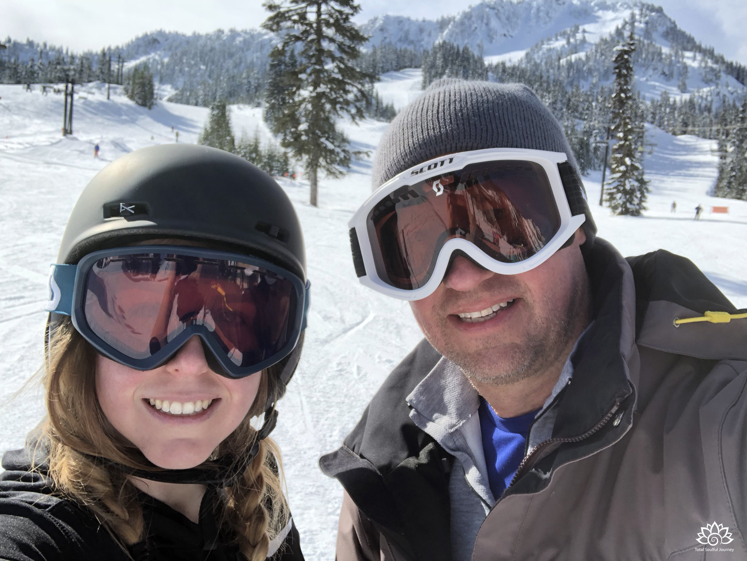 Skiing with my daughter at Steven's Pass in Washington State.