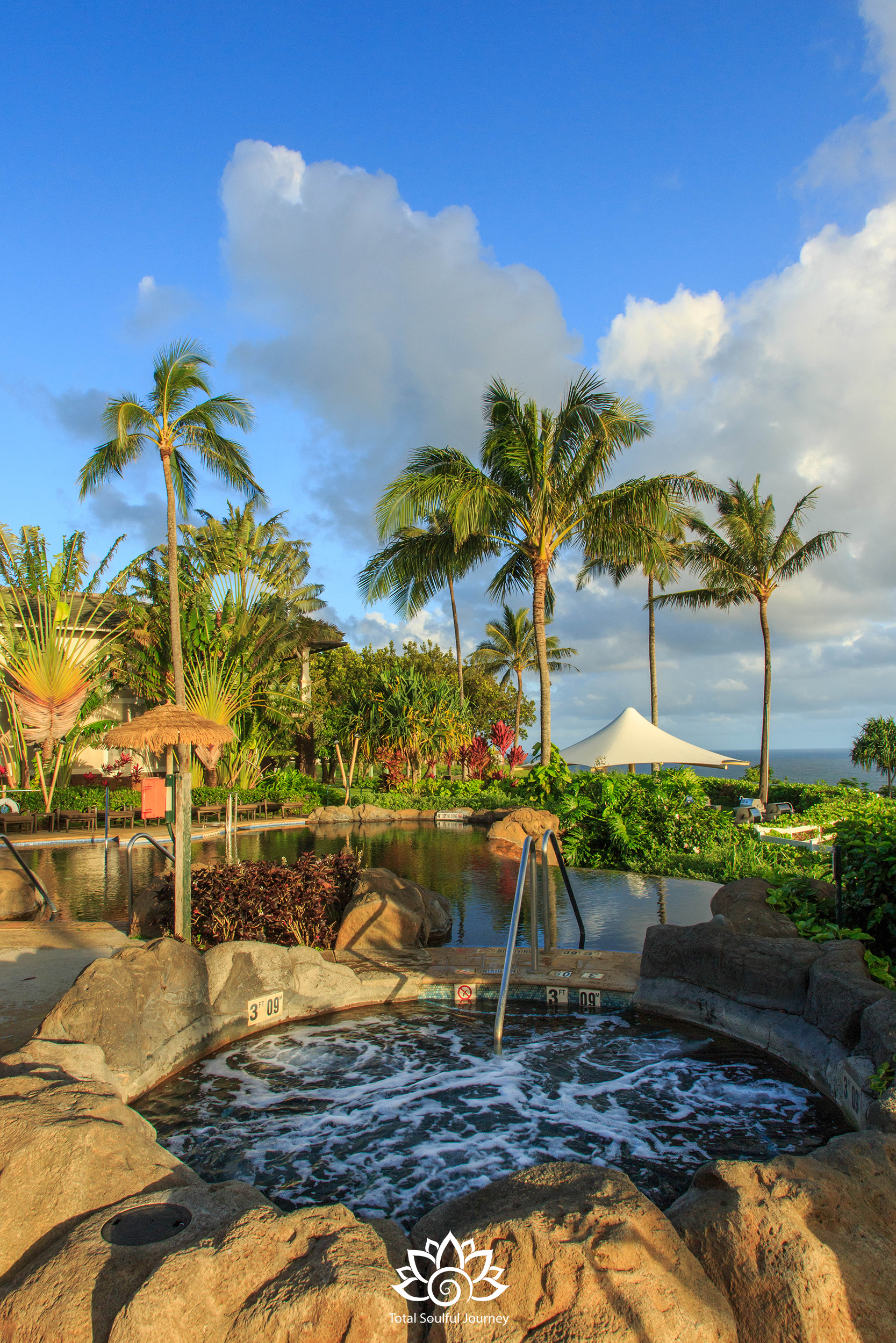 The Westin Princeville has three swimming pools and a kids pool. Photography by Paul Garrett