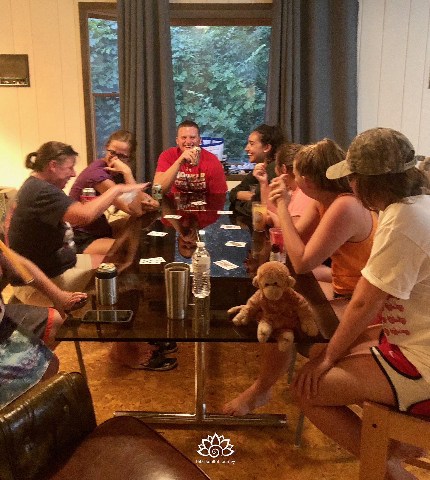 There's nothing -  like a fun game of cards after a long day on the lake with great friends. Laughter is good medicine!