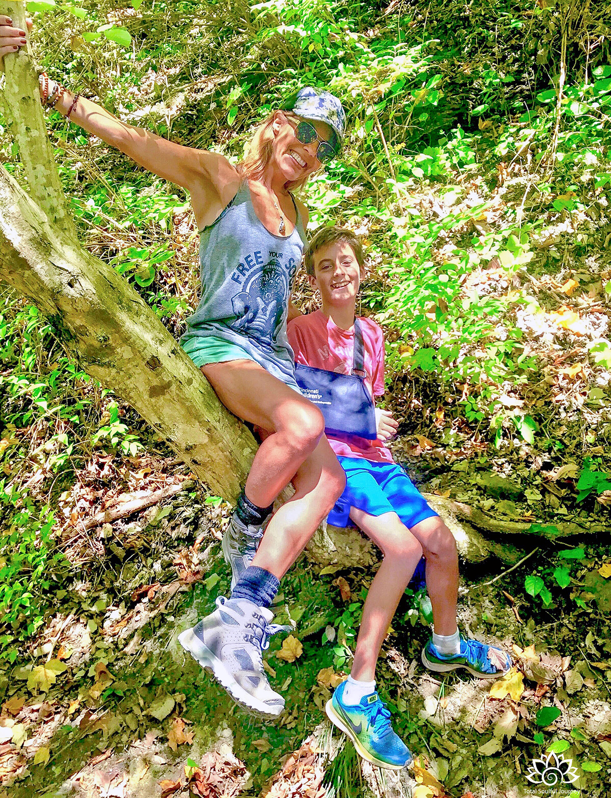 Bonding time hiking with my son at Red River Gorge.