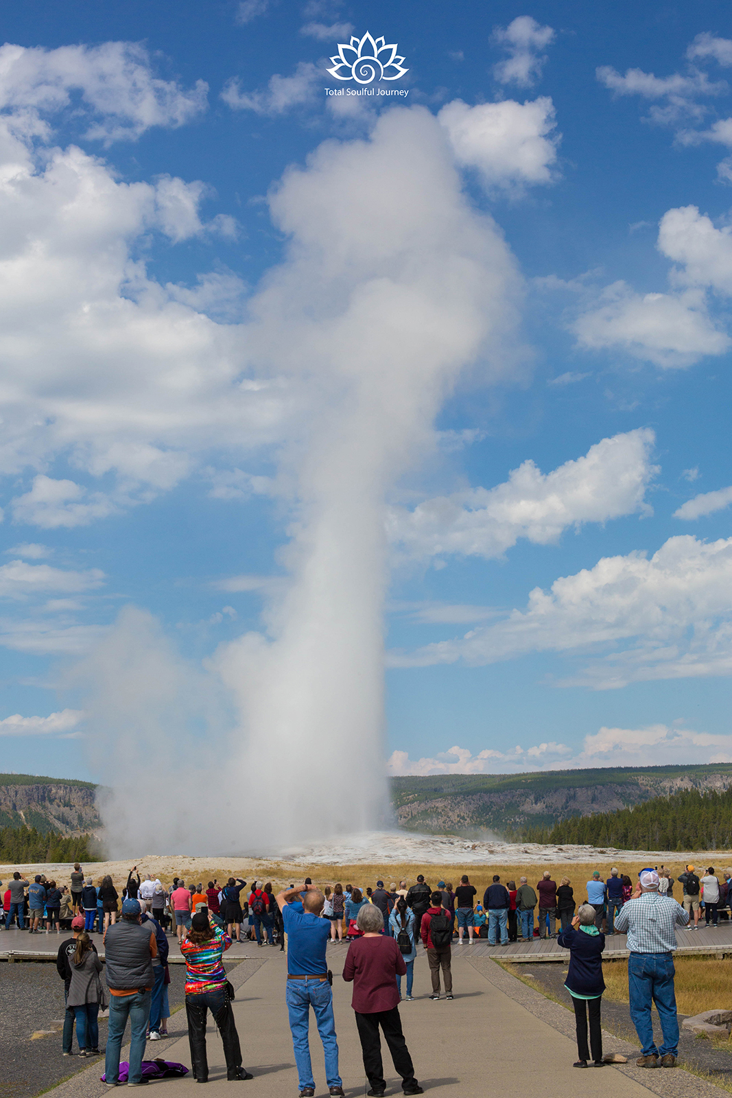 Old Faithful in Yellowstone National Park - Photography by Paul Garrett
