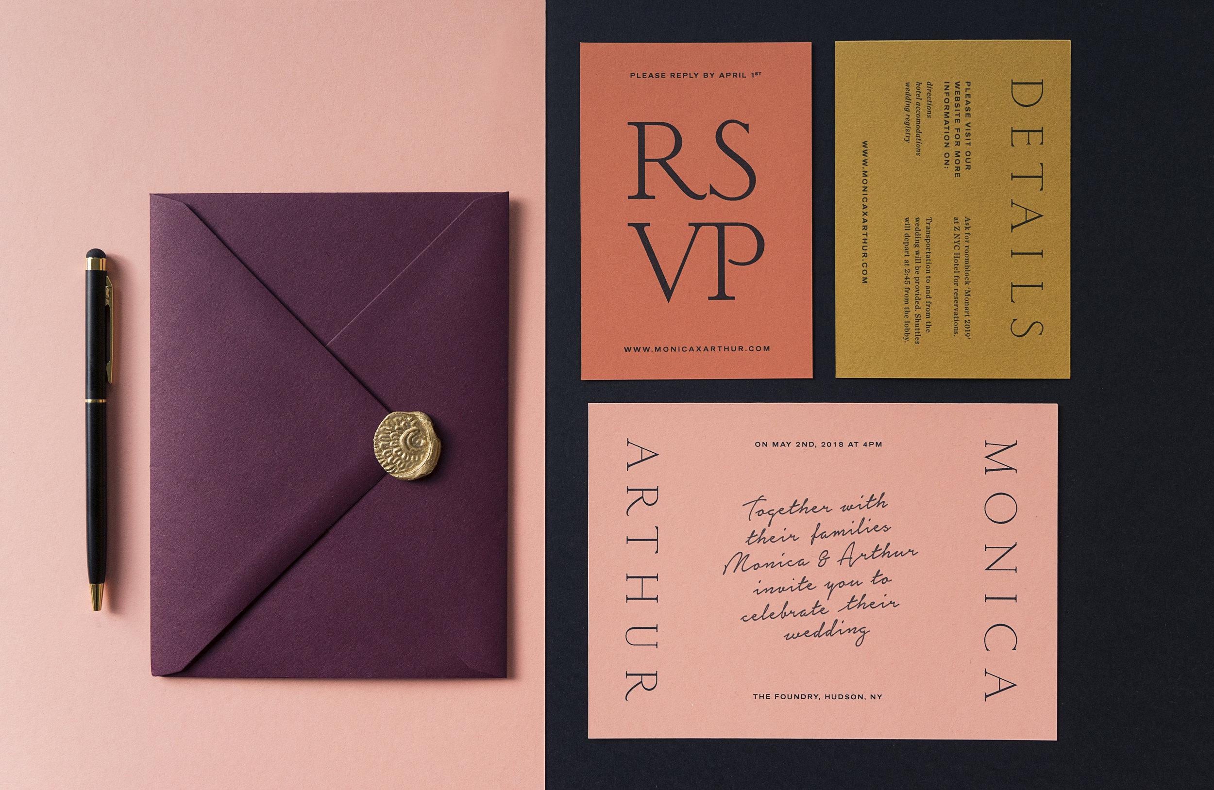 WEDDING INVITATIONS   Pre-Wedding Festivities, Ceremony, Reception, RSVP & Envelopes