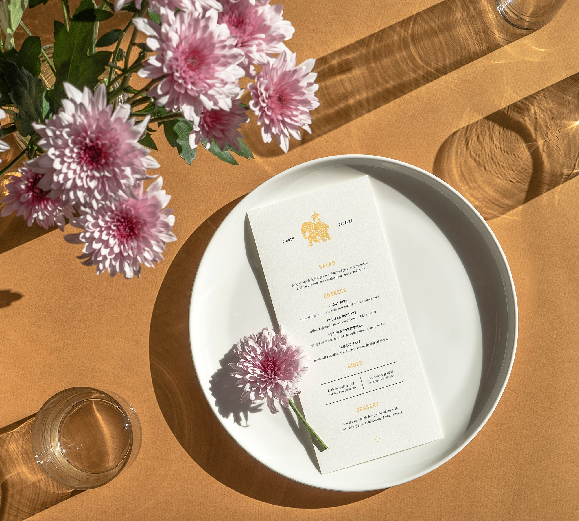 DAY OF DESIGNS   Menus, Programs, Table Numbers, Escort Cards, Place Cards, Signage