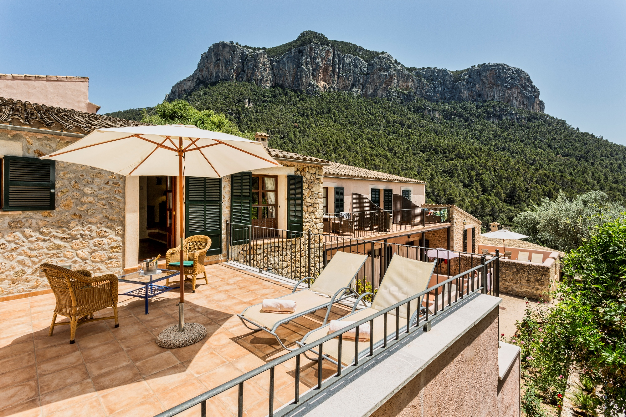 Hidden lodge in the Tramontana mountains