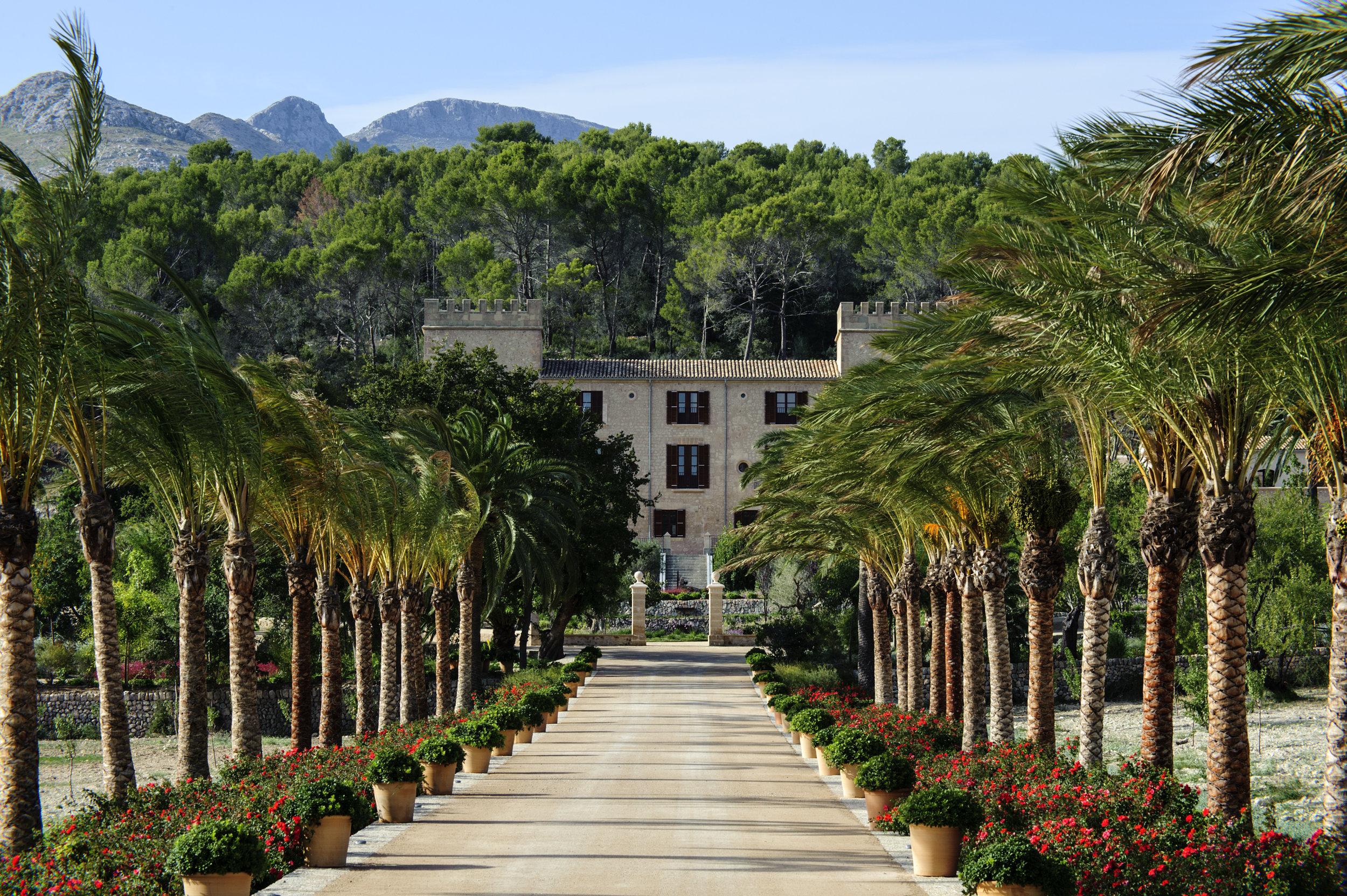 Luxury residence surrounded by serene landscape