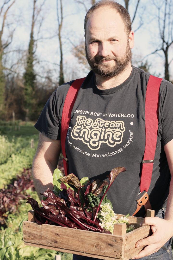 Food Waste Farmer Igor Vaintraub, West Sussex. 2017.