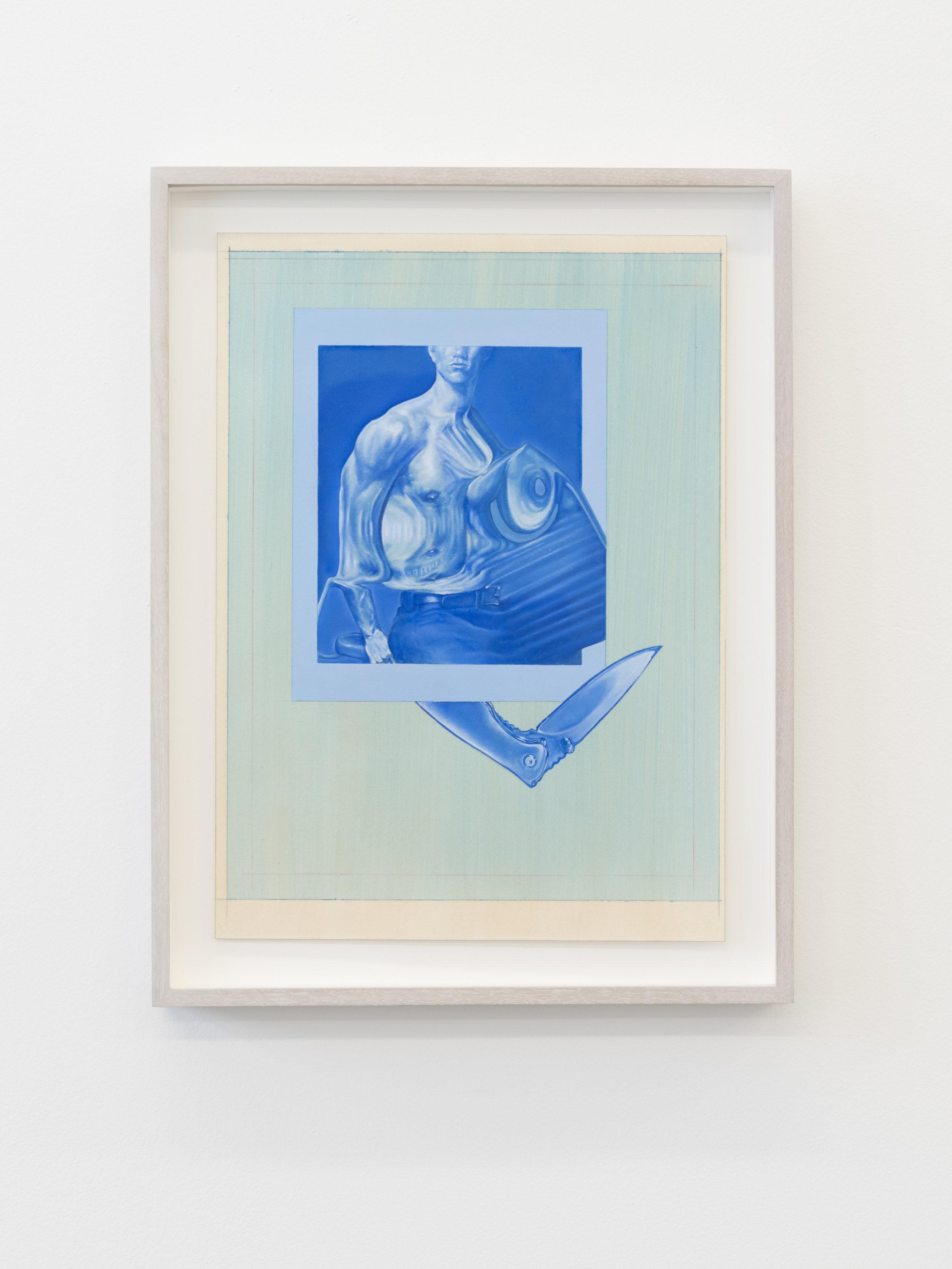 David Lasley   Mr. Titty Twister , 2018  Oil on paper  10 x 14 in, 12.5 x 16.5 in framed