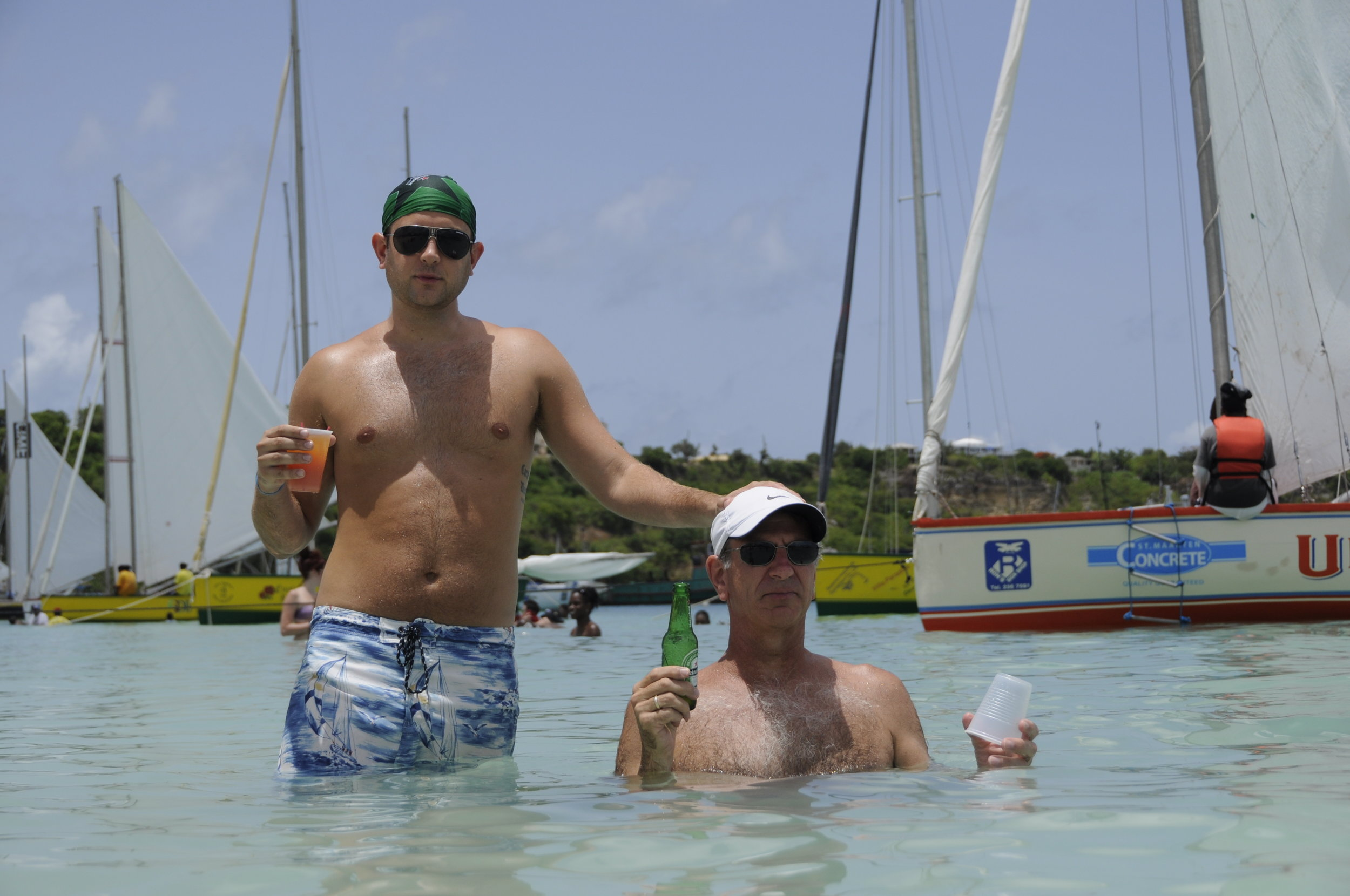 Jeff in Anguilla with his Peter, his father