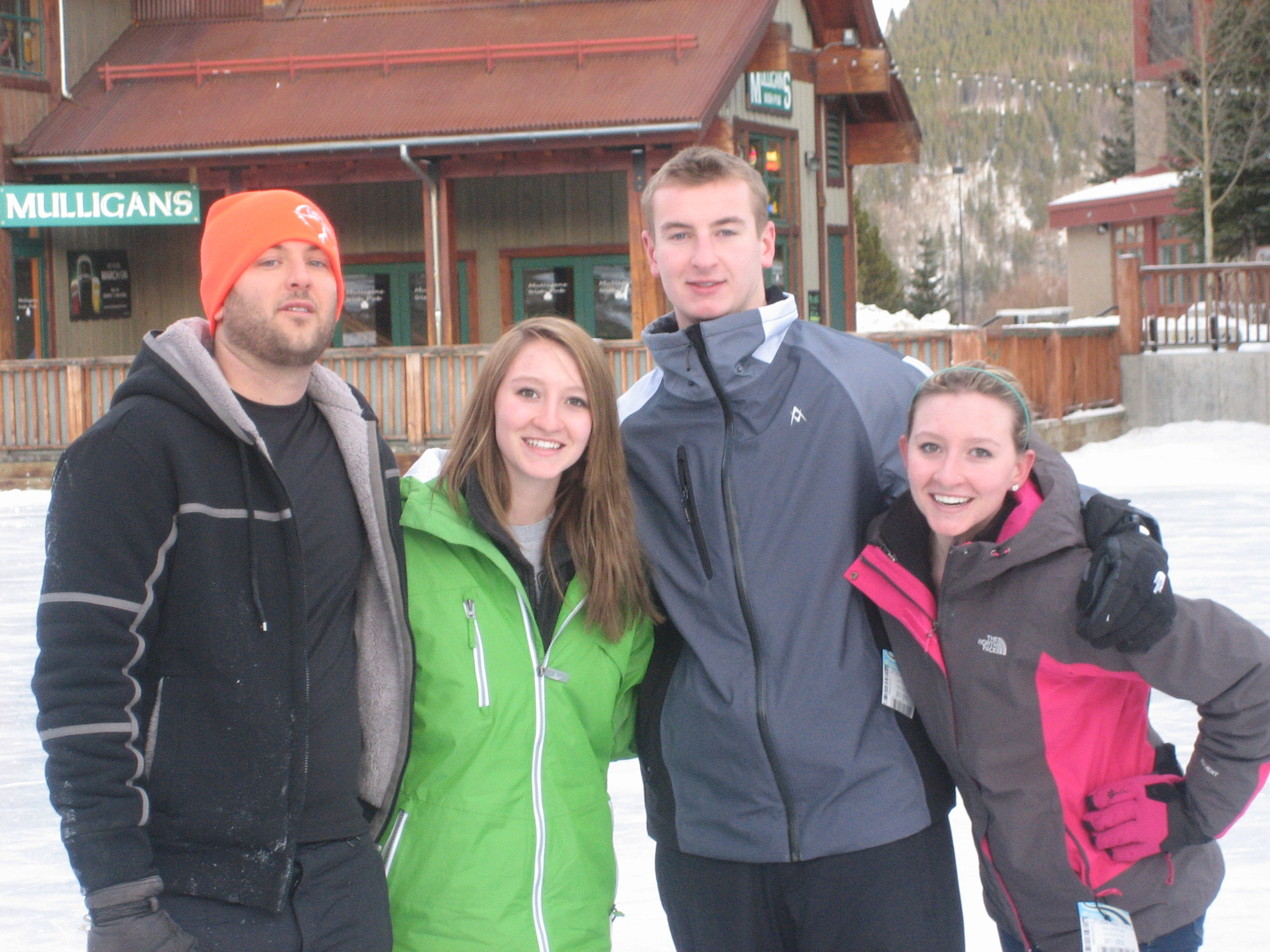 Jeff in Colorado with brother & cousins