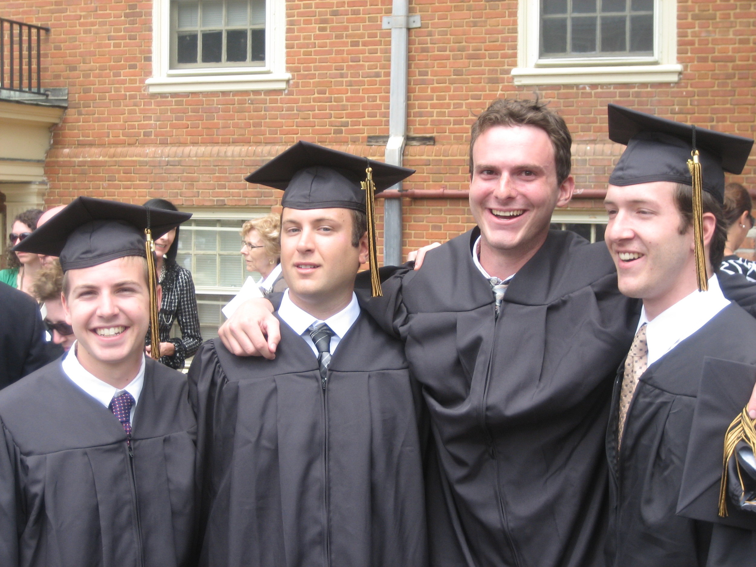 Willy, Jeff, Sam & Justin at graduation