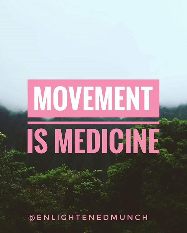 "Movement is an offering to the divine body not punishment. . Have you examined your mindset around movement lately? With the saying ""no pain no gain"" it's easy to fall into that illusion that we need to feel pain in order to see improvements. What if we sought to feel good instead.  What if we craved that endorphin rush as motivation instead of the pounds lost and muscle tone. All those will come and stay when what we want for our body is to feel good. . . . . . #feelgood #endorphins #enlightenedliving #enlightenedeating #mindset"