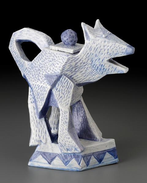 Cubist Dog Teapot