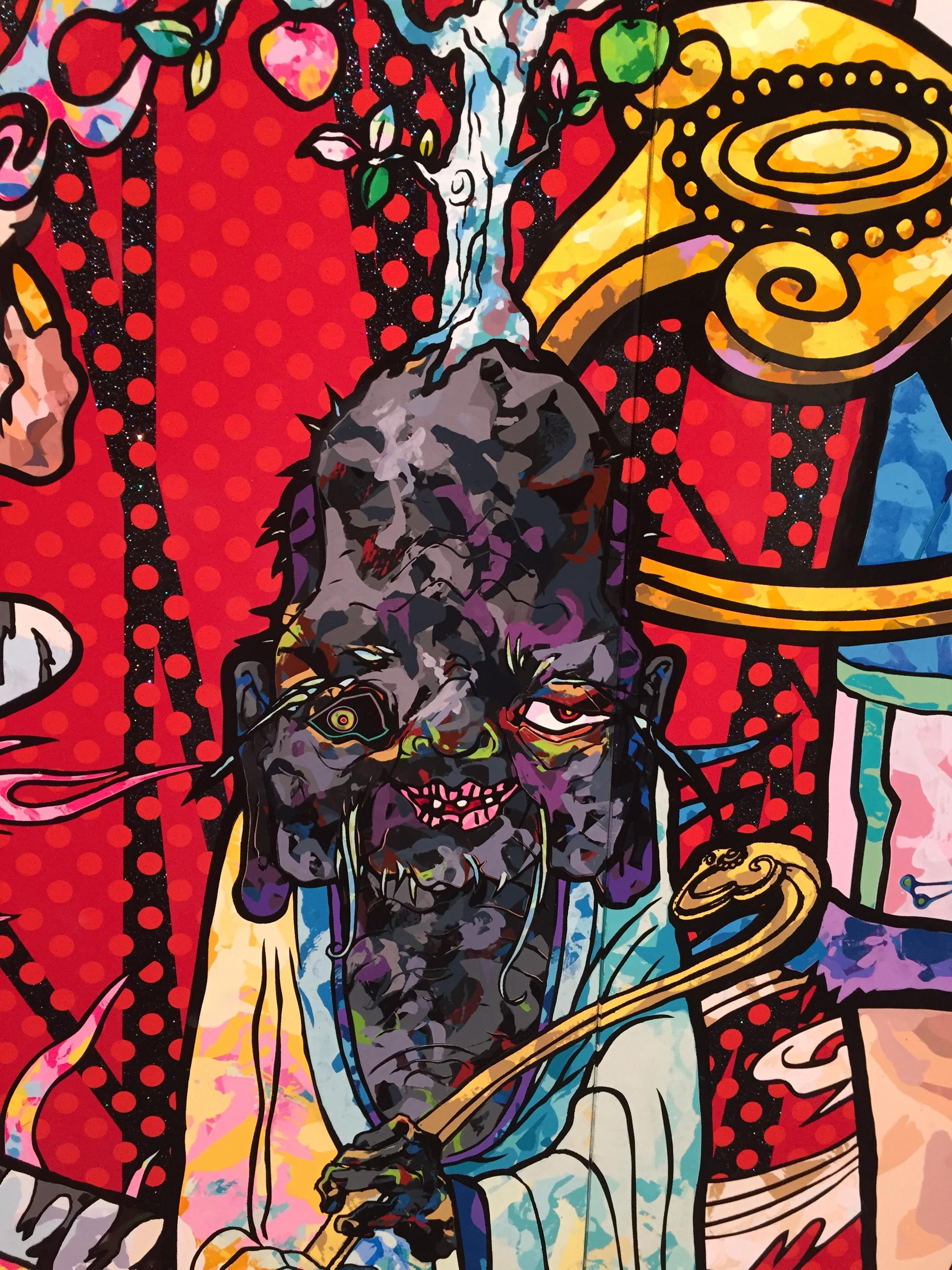 "Detail of Takashi Murakami ""100 Arhats"""
