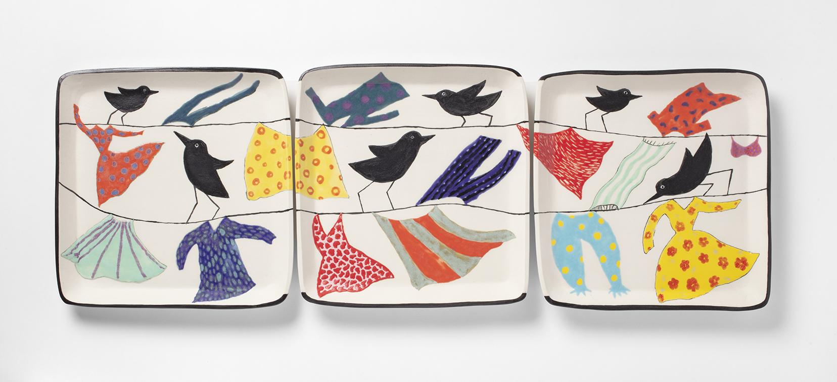 Colorful birds & laundry tritych.jpg