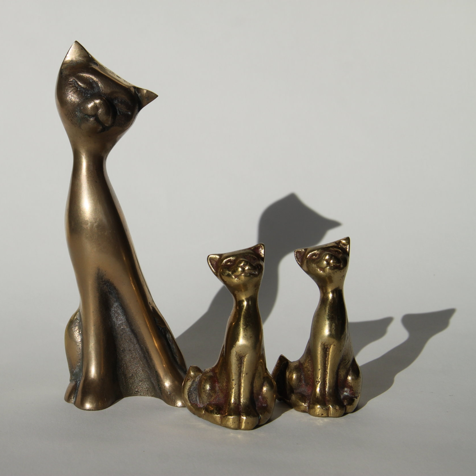 Brass kitties that belonged to my mom. They spark joy.