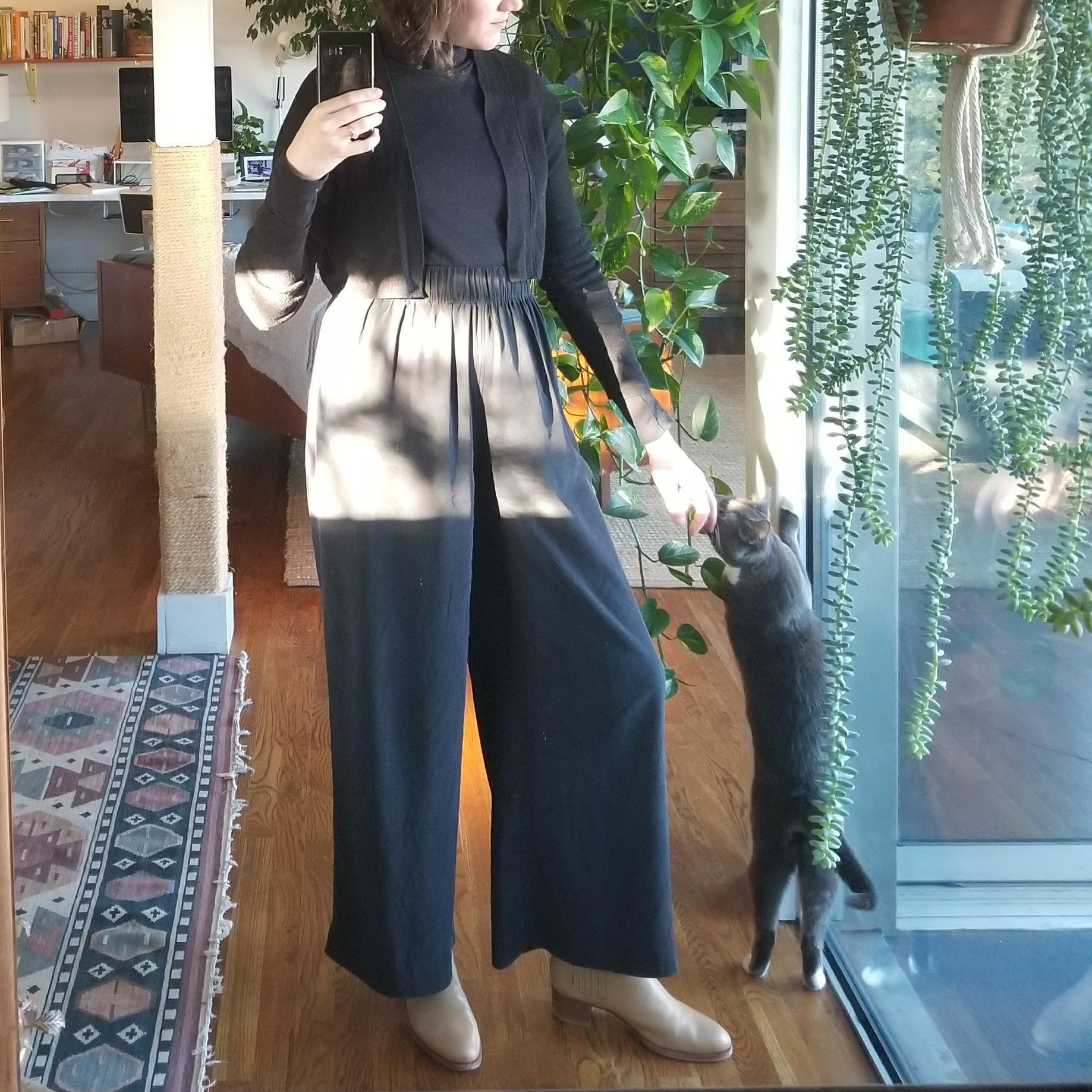 Kotn turtleneck +Elizabeth Suzann florence pants + Veronique Branquinho boots