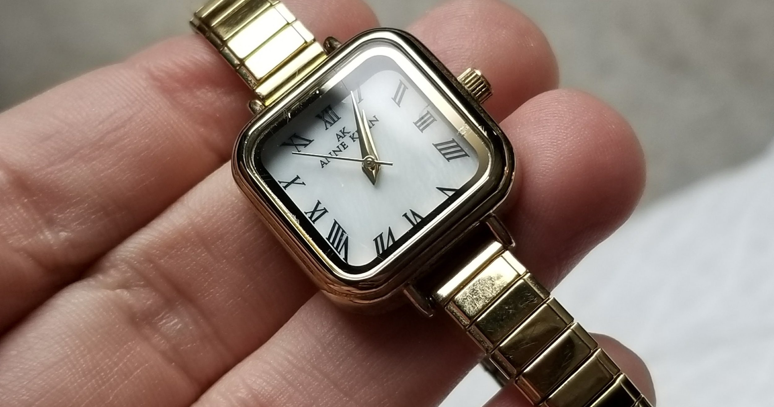 The Anne Klein expandy band watch.
