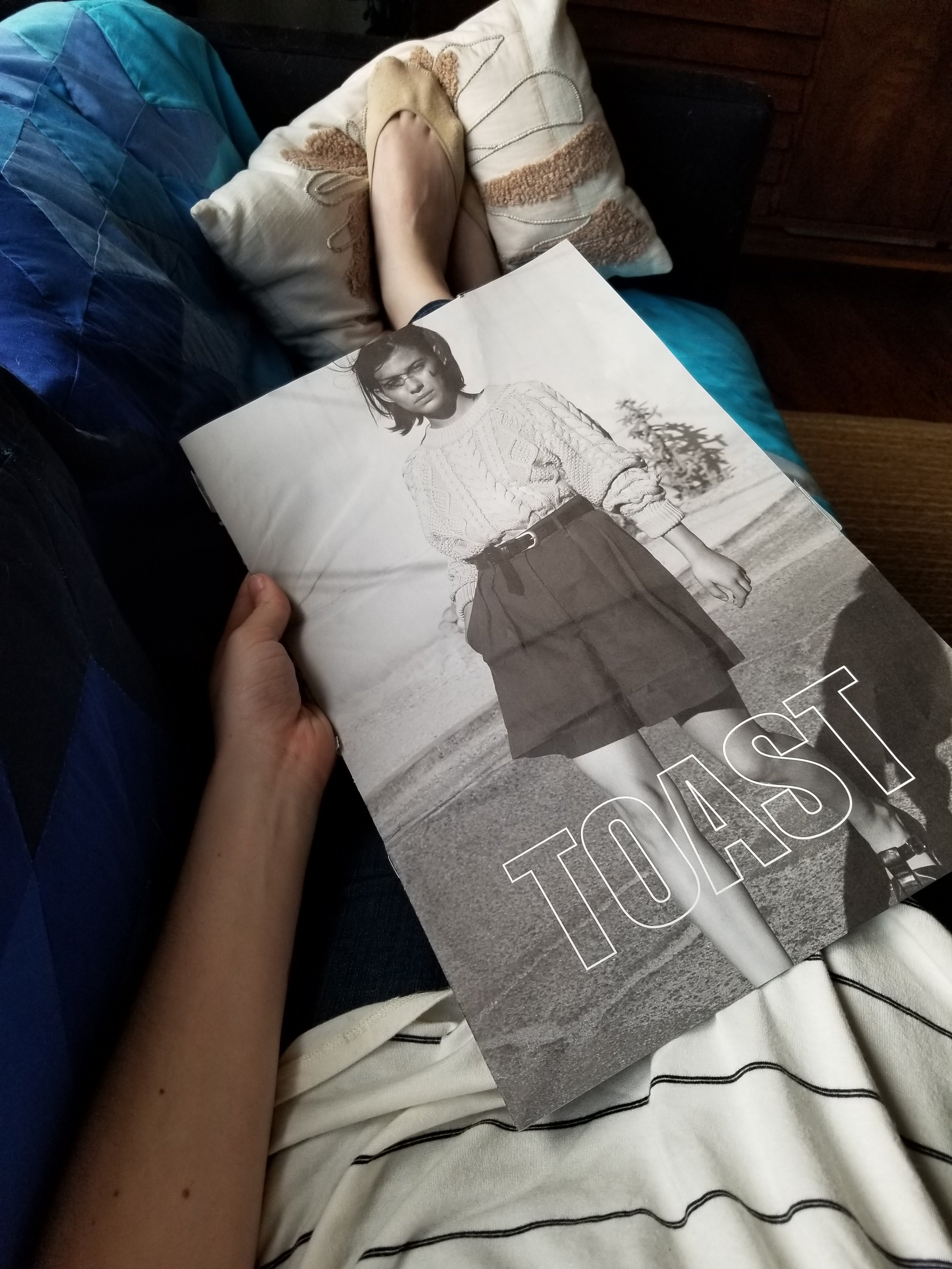 Here's what it looked like when the mailer, which we have established is beautifully printed, was unfolded. Those shorts!