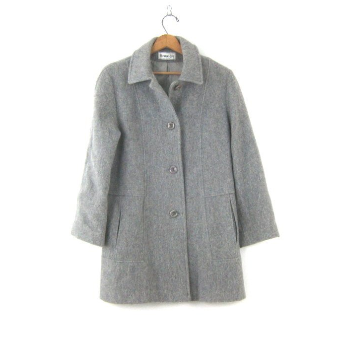 Simple gray coat - $40 / 80% wool, 20% nylon / Ships from USAAnother classic gray option. Can't go wrong here. The front pockets have a subtle but interesting pleat detail. Perfect for a frugal minimalist with an eye for the finer things.