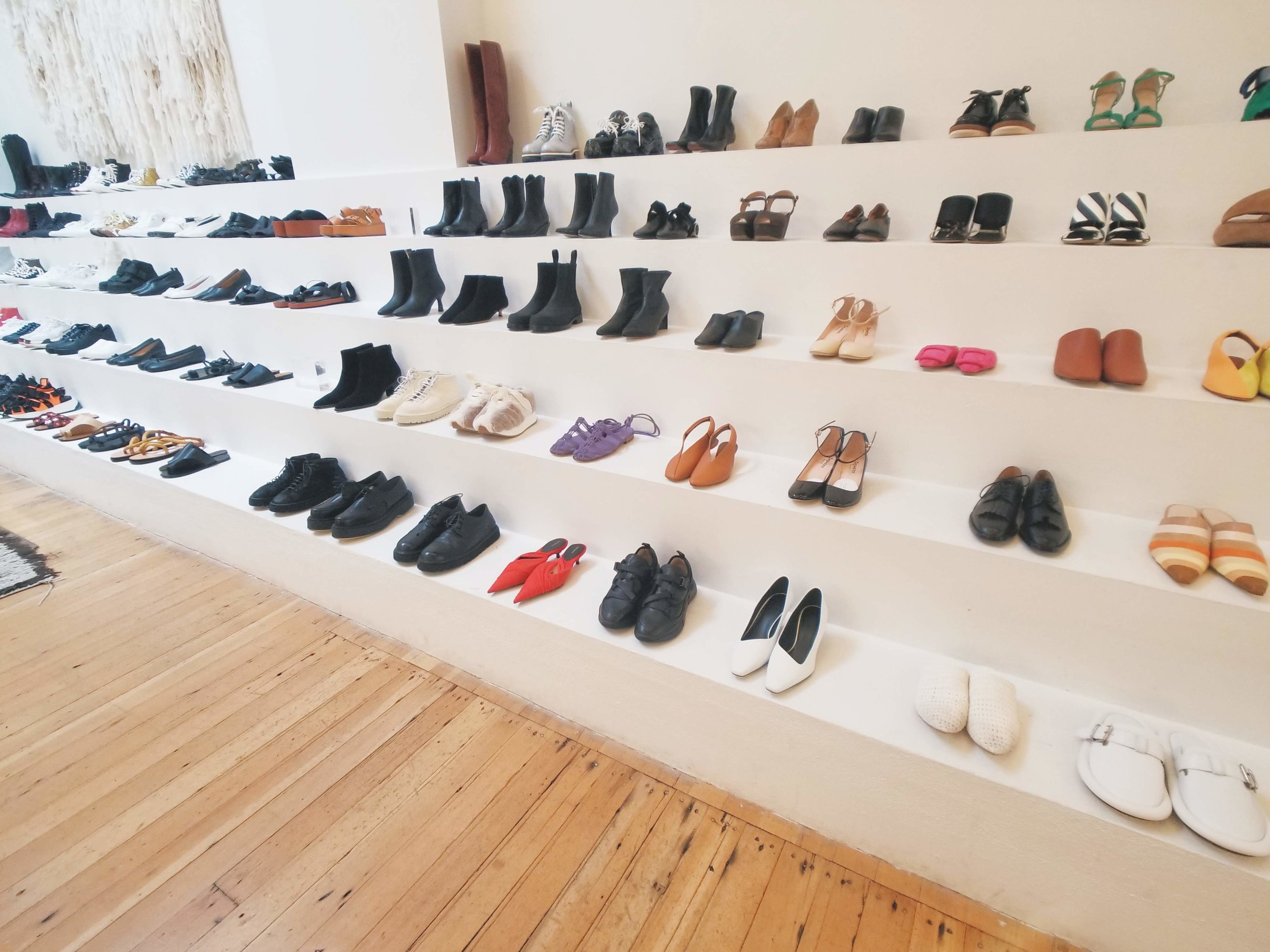 Shoe-spiration at Totokaelo. So many gorgeous and quirky pairs to choose from. I loved a pair of simple Robert Clergerie black slides.