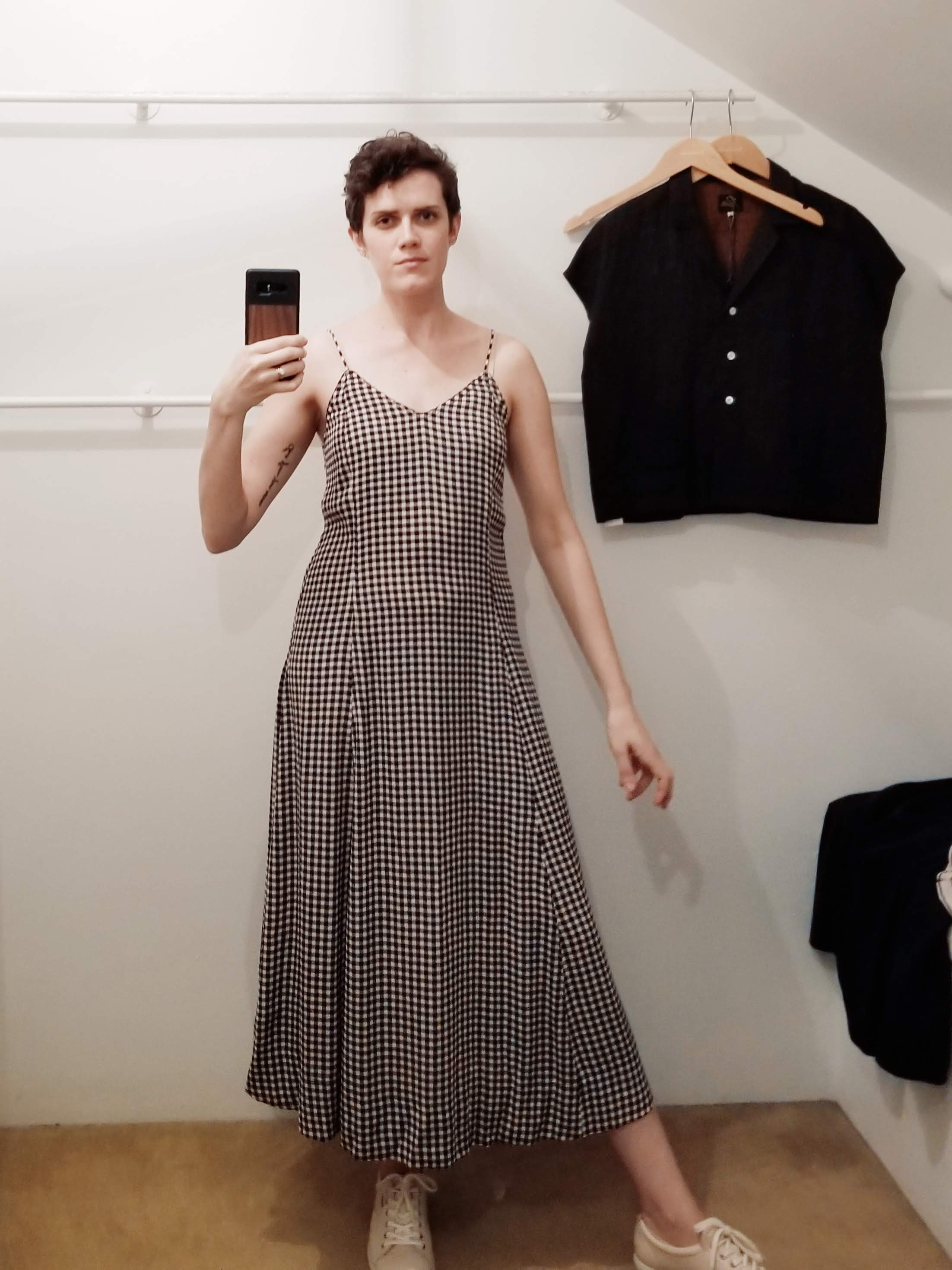 Fell in love with this silky rayon gingham dress by Ganni… yes I took it home. I think I've shared more photos from Totokaelo than from anything else I saw in Seattle so sorry but not sorry, that place is awesome.
