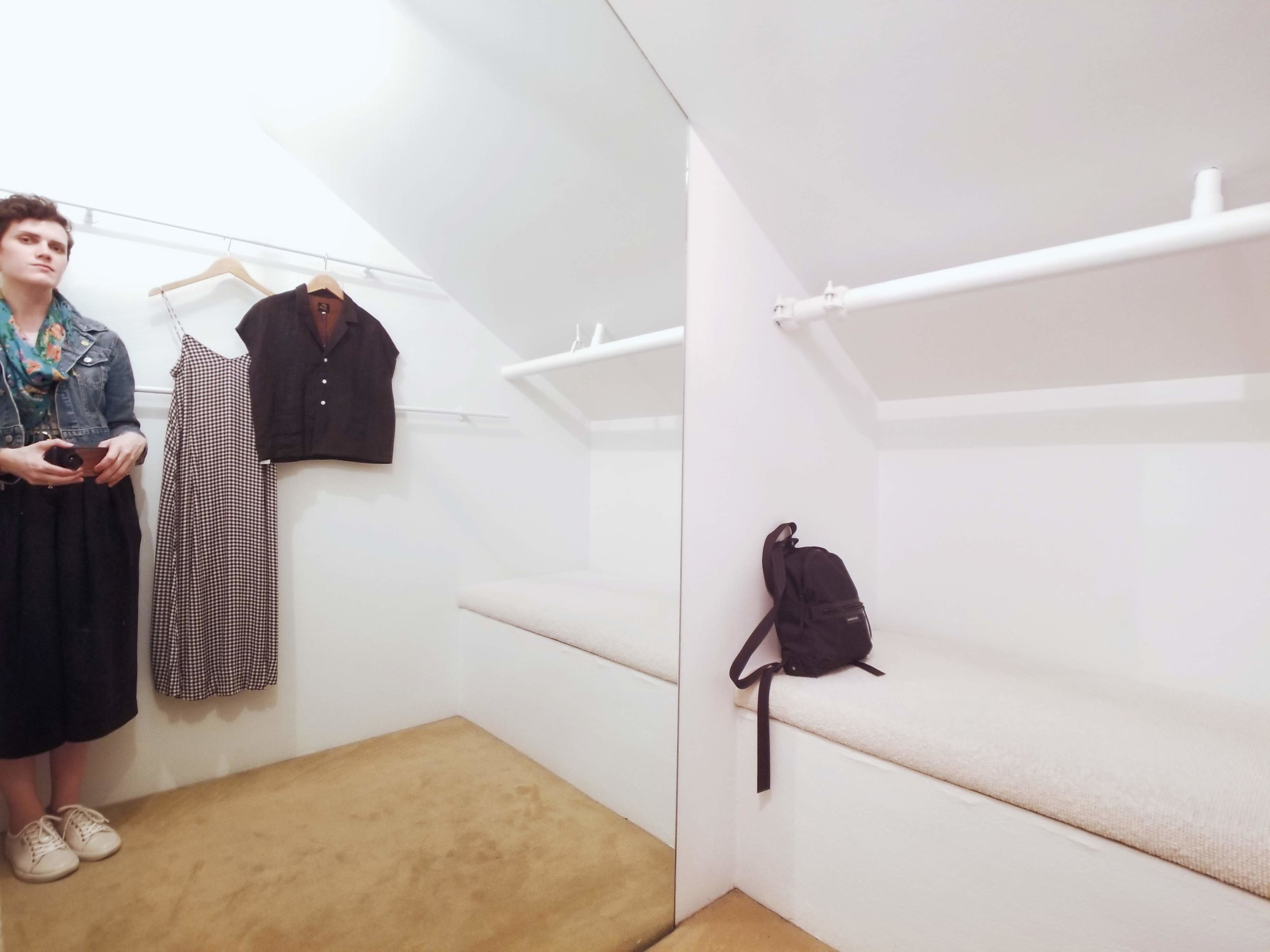Even Totokaelo's fitting room was cool and minimal.