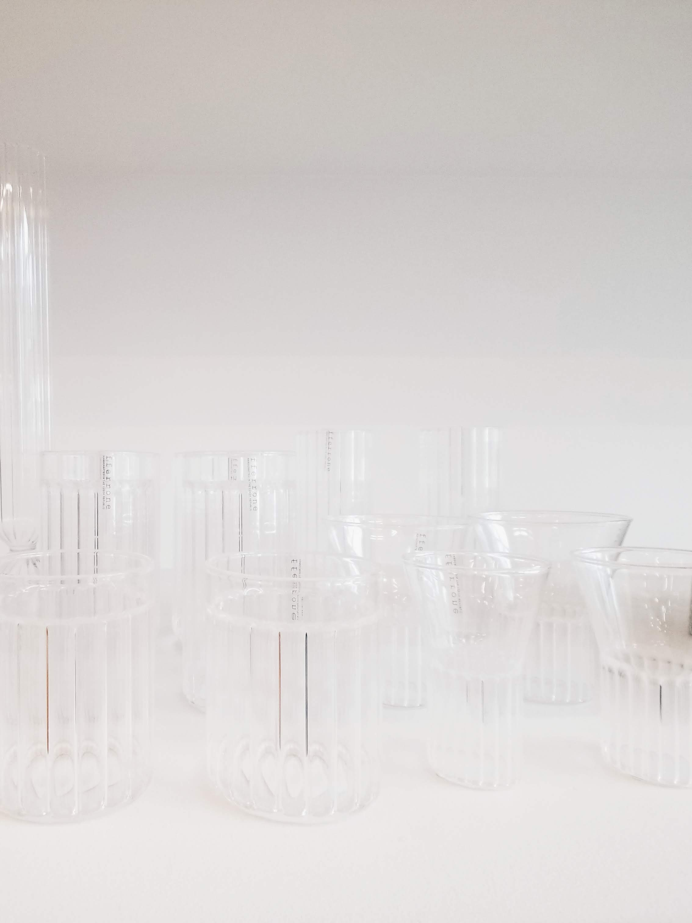 I loved these fluted glasses at Totokaelo. The ridges were actually on the inside, so there was a deceptive contrast between perceived texture and tactile smoothness. They felt light and delicate but caught the light like cut glass.