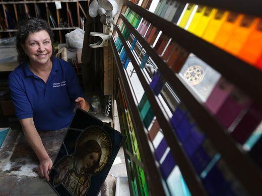 Judith Hiemer Van Wie, a fourth generation glass maker.   Photo: Kevin Wexler/Northjersey.com