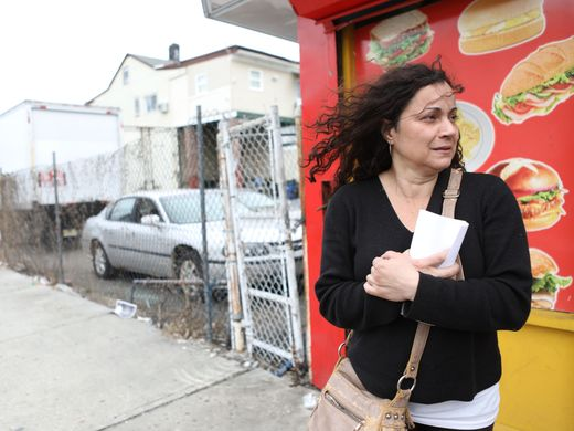 Lizette Garcia, hours after getting evicted.  Photo: Kevin Wexler/Northjersey.com