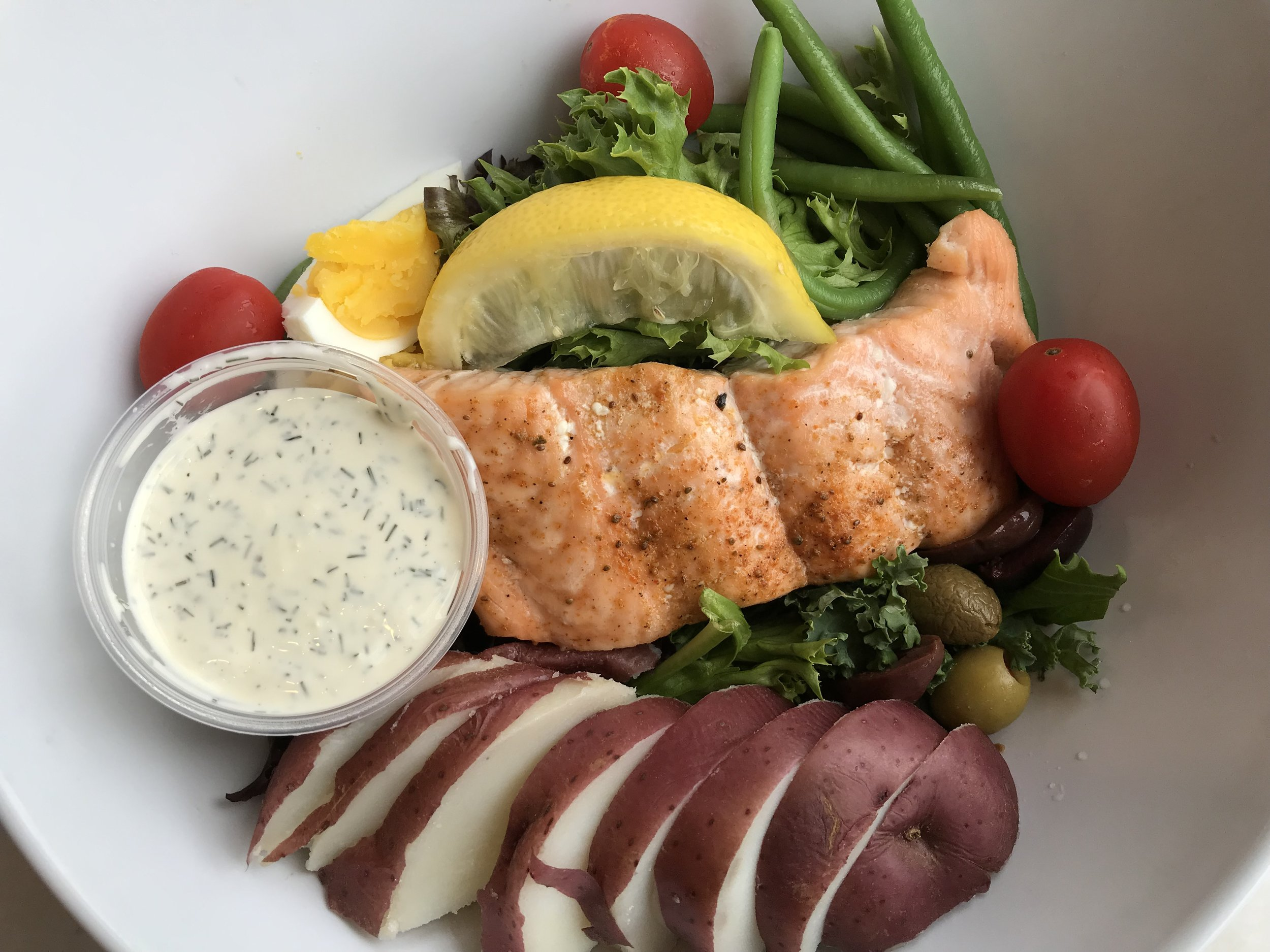 Fresh Salmon Salad Nicoise