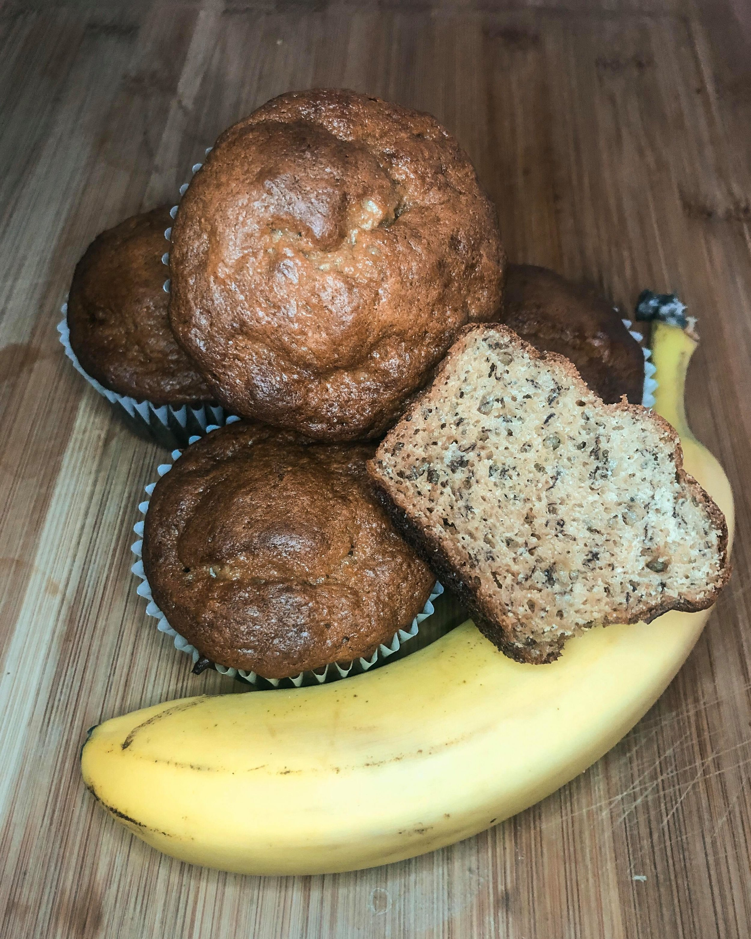 The Yes Girl Kitchen - High Protein Banana Muffins