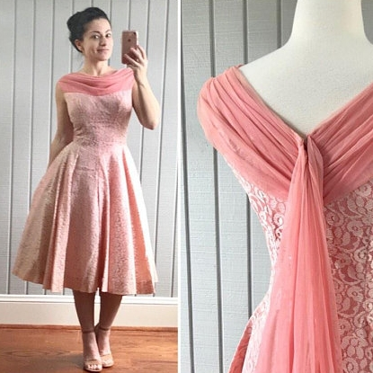 50s Tea Length Dress | $117