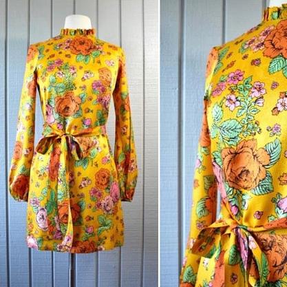 60s Lanz Floral Mini Dress | $85
