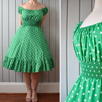 80s Cotton Dot Sundress | $45