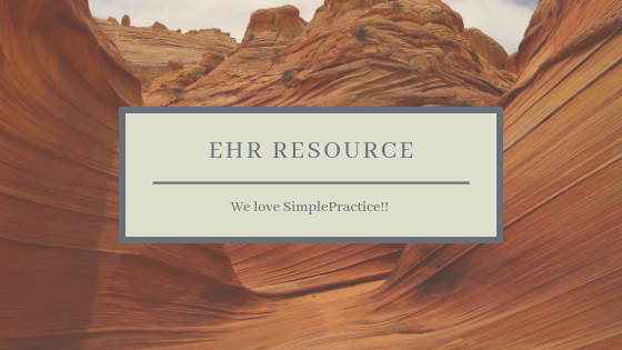 Looking for an EHR system?  We love SimplePractice. It holds all of our client info and can accommodate in-person as well as telehealth appointments. It makes the private practice life so much simpler! Click here to start your trial:  https://www.simplepractice.com/?p=d3f4130032