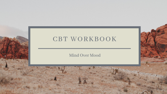 Mind Over Mood  walks you through the basics of CBT - it's excellent as a resource for clients to read alongside weekly therapy. Check out the link below:  https://amzn.to/2y5SvPK
