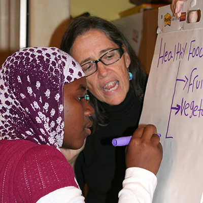The Larsen Group - On refugee day 2012, Marge Pellegrino shared, through this interview, how Owl & Panther has evolved and expanded in the nationalities of folks served & the variety of expressive arts experiences offered.