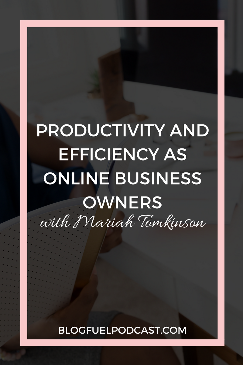 Productivity and efficiency are key components to a successful career as a solopreneur. In Ep. 13 of the Blog Fuel podcast, Mariah Tomkinson of Bloom Hustle Grow shares her tips for accomplishing more in less time & learning how to focus on what's important.