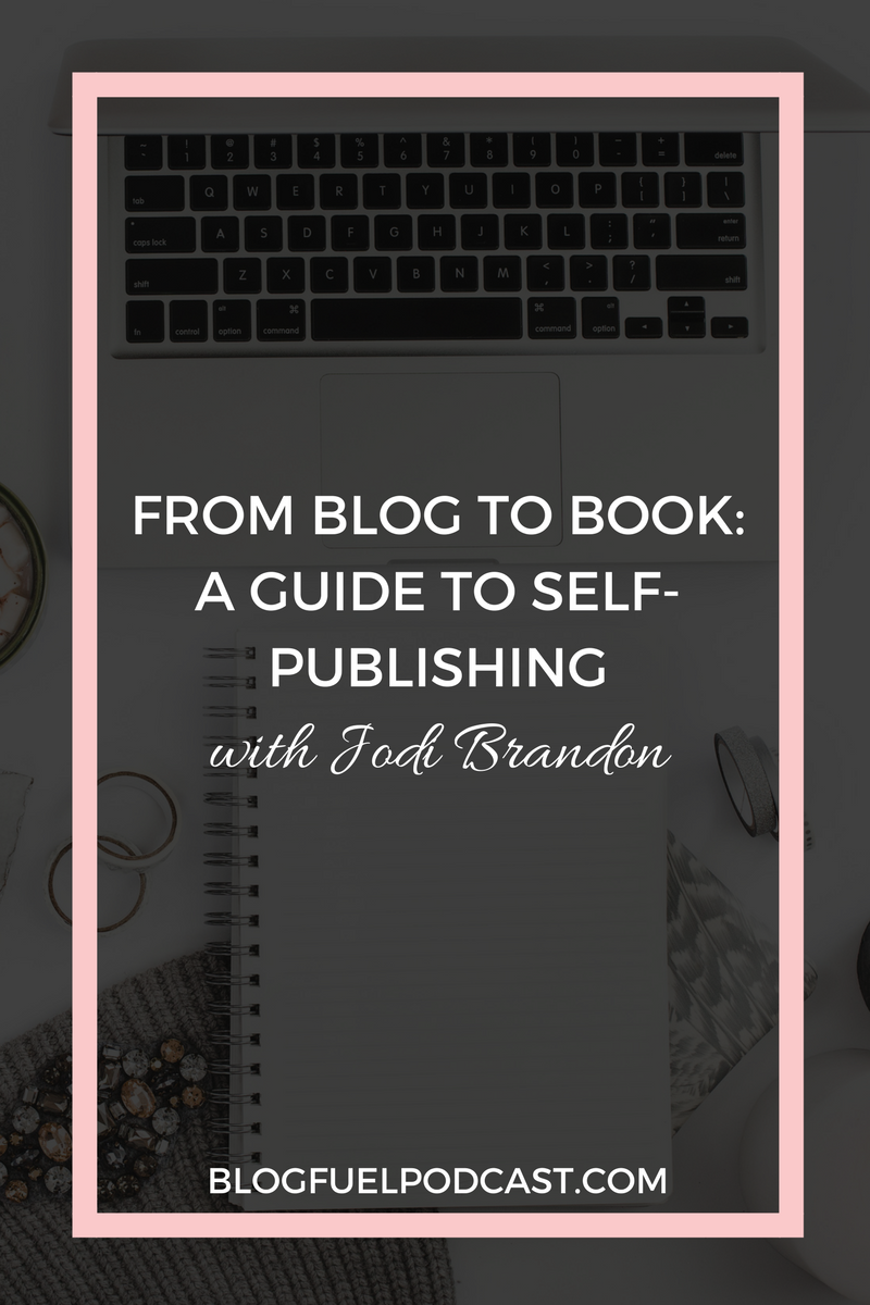 More & more bloggers are adding ebooks & books to their monetization strategy, and for good reason. Jodi Brandon, of Jodi Brandon Editorial, shares the steps bloggers can take to self-publish, including resources and tips for working with an editor, how to come up with book ideas, and how to use brain dumping to create chapters for your book. Blog Fuel Ep. 007 takes you from Blog to Book: A Guide to Self-Publishing