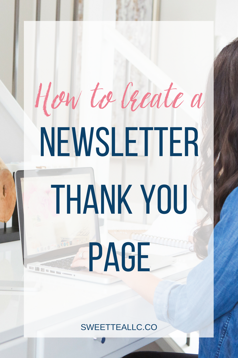 Such a smart idea! Instead of using the generic sign-up confirmation forms in your email service provider, create a thank-you page! Send subscribers back to your blog & deliver valuable content!