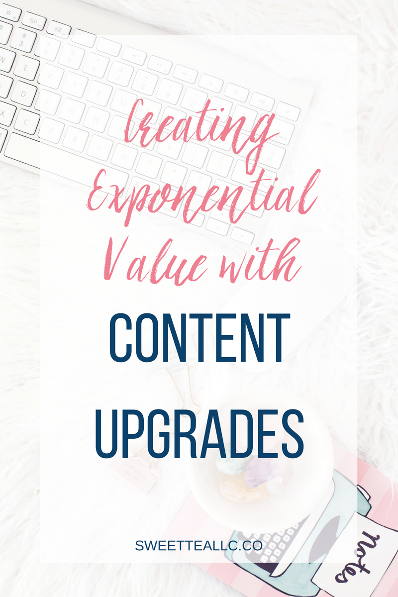 Content upgrades can exponentially grow your email list while providing exponential value to your blog readers. Learn how & why to set them up PLUS register for an exclusive course to dive even deeper into content upgrades.