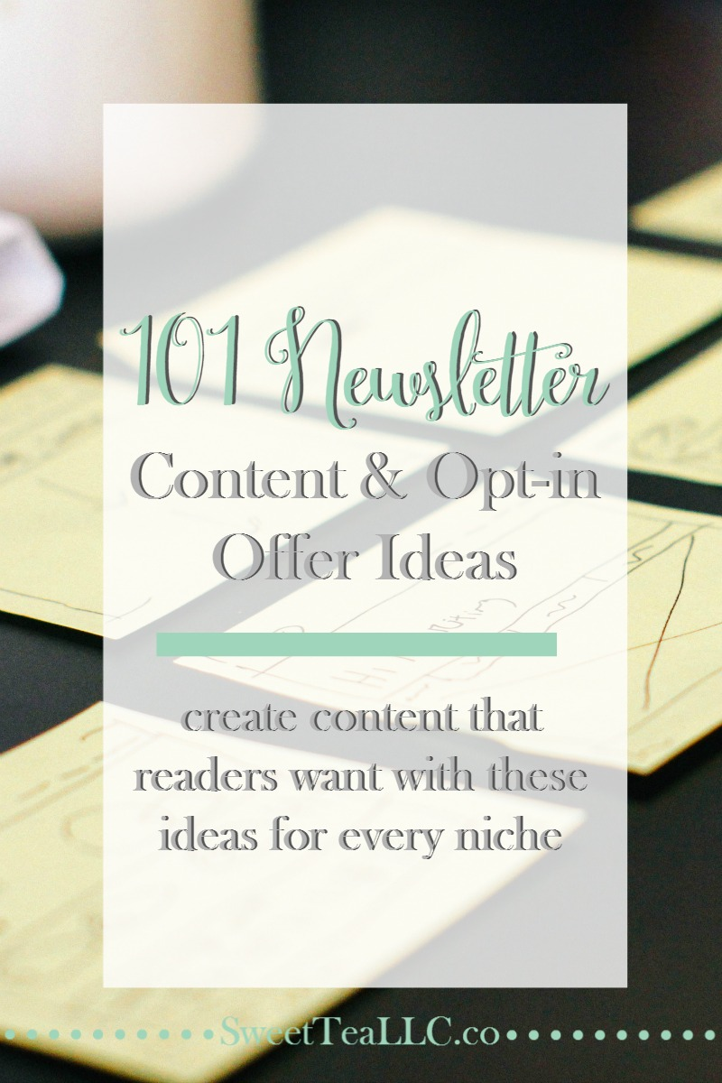You know you need a newsletter for your blog, but you might be at a loss for words when it comes to creating content for your newsletters, you hit a wall. No worries! Here are 101 ideas to spark some creativity!