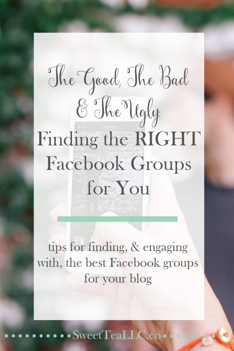 All Facebook groups are NOT created equal. Use these tips to find out which Facebook groups are right for your blog, and how to figure out which ones aren't.