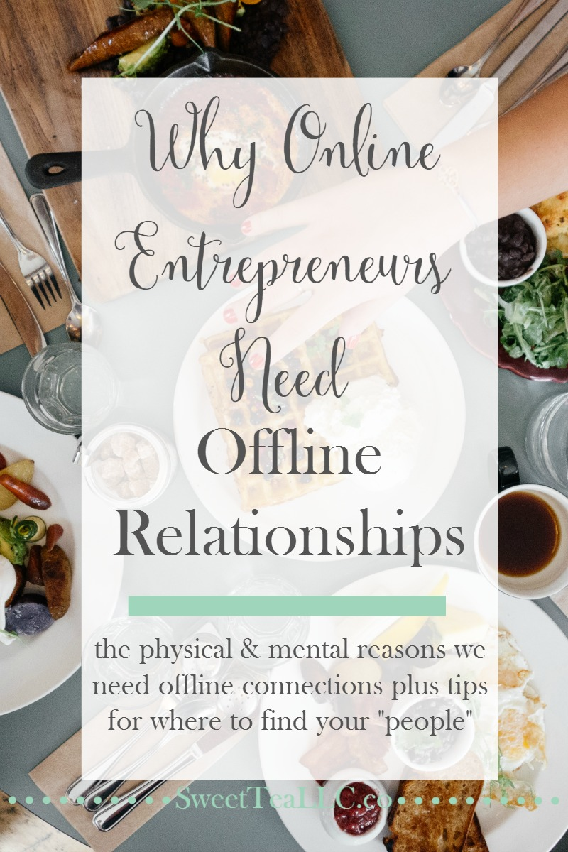 Online entrepreneurs & bloggers need to be sure to cultivate offline relationships as well. Learn why it's important and get tips for ways to hang out offline with like-minded people.