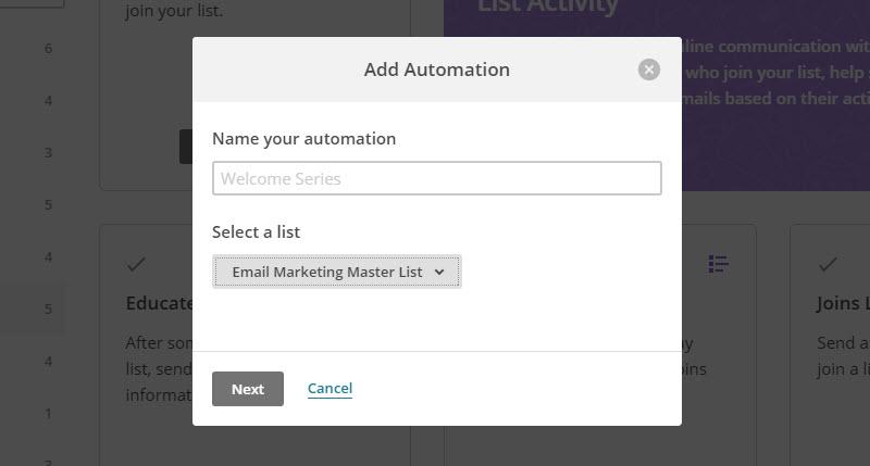 MailChimp Automation Workflow 3