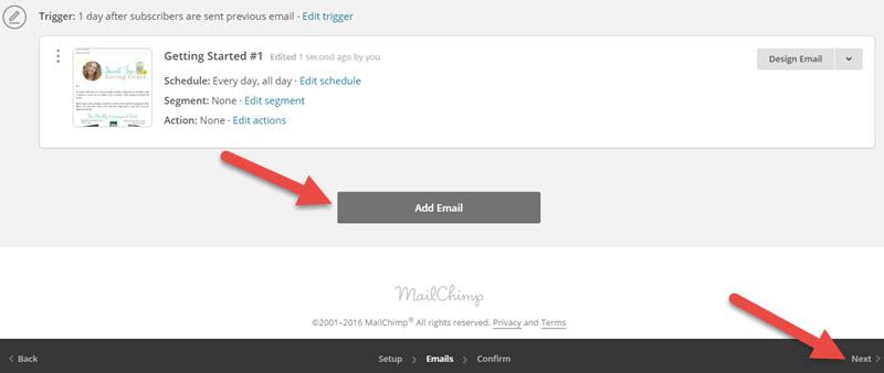 MailChimp Automation Workflow 8