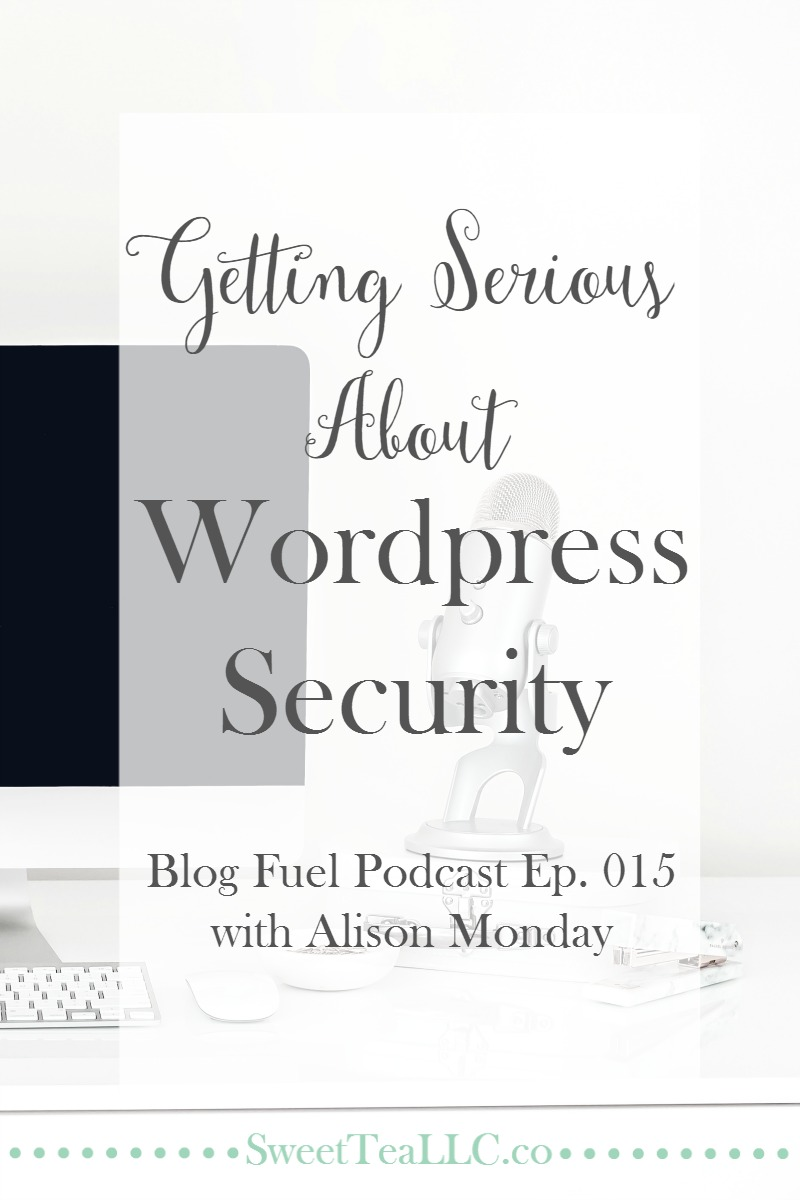 Wordpress security is not usually a hot topic of conversation, but it absolutely should be. Setting your site up to avoid risk is a huge part of setting yourself up for success. Alison Monday of Tiny Blue Orange shares practical tips to help every blogger stay safe in Ep. 015 of the Blog Fuel podcast.