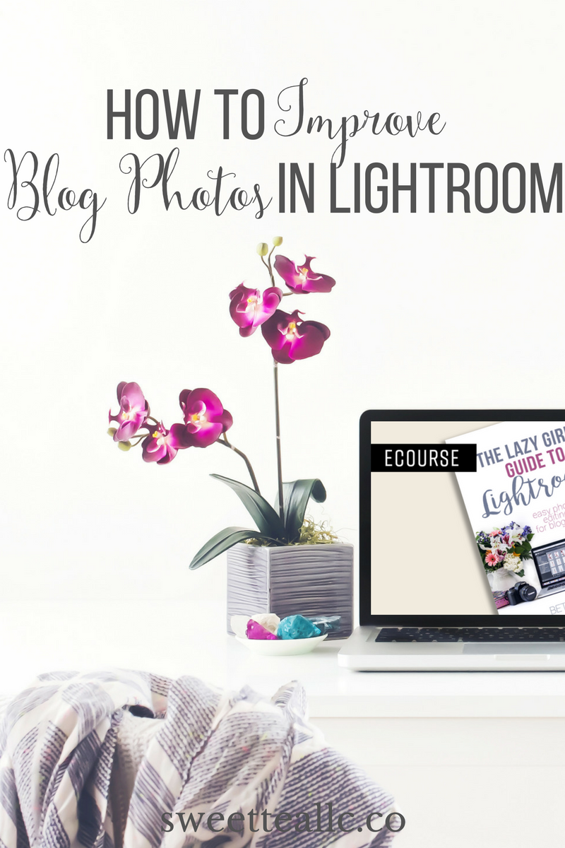 Blog photos are what draws a reader in and gets them interested in your content, so they have to be good. Lightroom is a blogger's best friend when it comes to improving blog photography. Easily create a streamlined, time-saving workflow, batch edit photos, merge photos, and so much more. Learn how it compares to Picmonkey, and get information about an amazing course to help you use Lightroom to it's fullest potential.