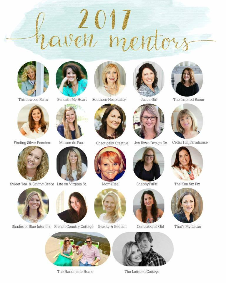 Haven Conference is a blog conference for DIY and home decor bloggers that takes place each year in Atlanta, GA. I'm excited to be a Haven Mentor in 2017, and can't wait to meet other bloggers at this year's event!