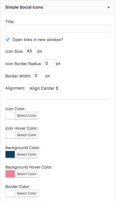 Simple social icons is a self-hosted Wordpress plugin that allows you to create and customize your social media icons for your widget areas.
